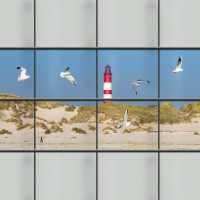 Kreativ Sichtschutzstreifen, Motiv Küstenlandschaft