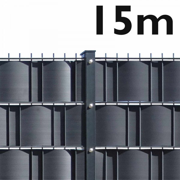 Gittermattenzaun Set - schwere Ausführung 15m