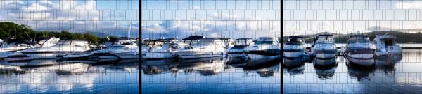 XXL Panorama Zaunposter Sichtschutz Motiv Yachthafen