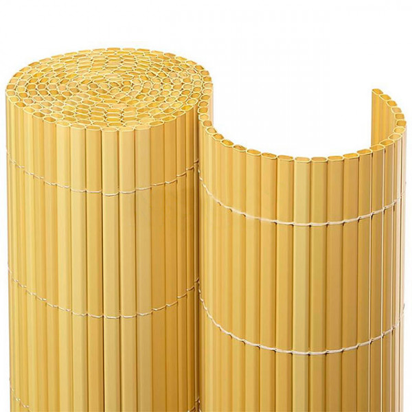 PVC Sichtschutzmatte in bambus -Detail