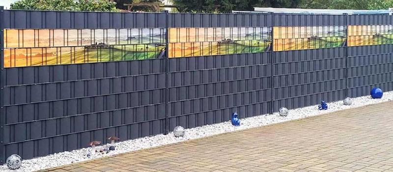Sichtschutz für den Zaun