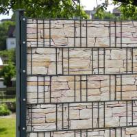 Bedruckte Sichtschutzstreifen für Gittermattenzaun, Motiv Tessin Anwendung Zaun