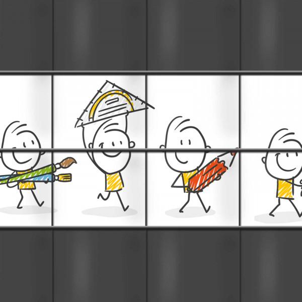 Sichtschutzmotiv School Life für Kitas und Schulen