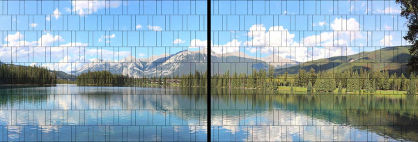Panorama Zaun-Sichtschutz Motiv Bergsee