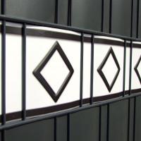 Design Zaunstreifen Motiv Hamburg Farbkombinationen Weiß-Anthrazit
