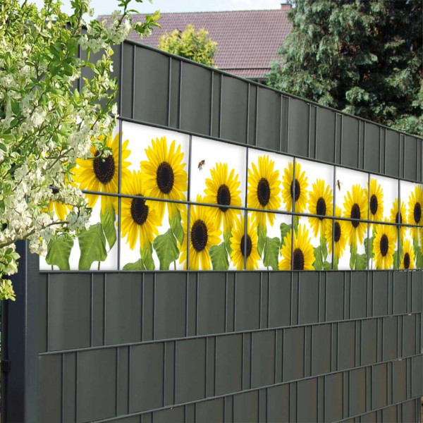 Bedruckte Kreativstreifen Motiv Sonnenblumen, Anwenedung