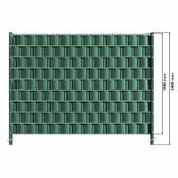 Gittermattenzaun Komplettset - grün