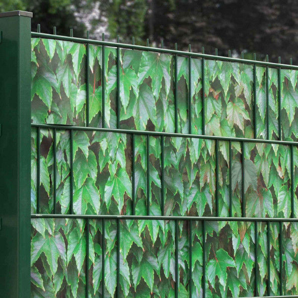 Bedruckte Sichtschutzstreifen für Gittermattenzaun, Motiv Bedruckte Sichtschutzstreifen für Gittermattenzaun, Motiv Grüner Wein