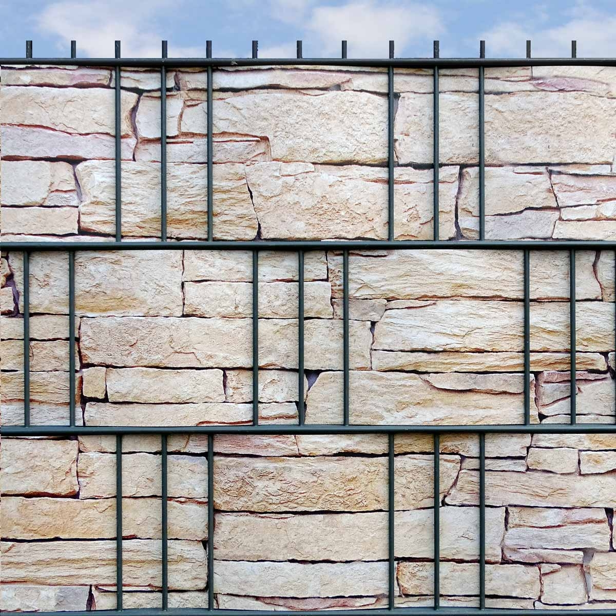 Hart Pvc Motiv Streifen Sandstein Tessin Sichtschutz Shop