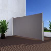 Ausziehbare Seitenmarkise Anwendung 120cm x 350cm Anthratit