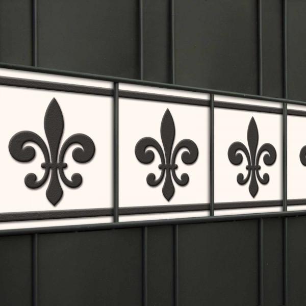 Design Sichtschutzstreifen, Motiv Französische Lilie