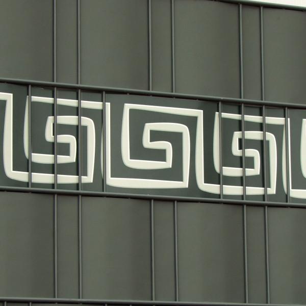 M-tec design® Streifen Motiv Mäander für Sichtschutz im Gitterzaun