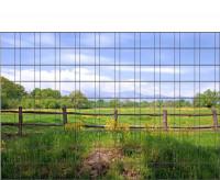 Bedrucktes Zaunposter Sichtschutz Motiv Weidenzaun 9 Streifen