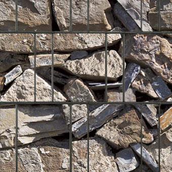 PES Sichtschutzstreifen Motiv Provence Steine Detailansicht