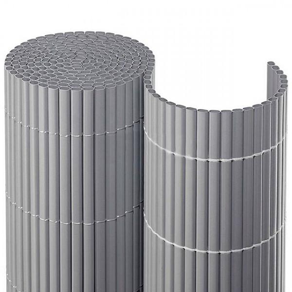 Gartensichtschutzmatte aus PVC in silber