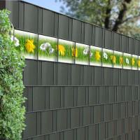 Bedruckte Kreativstreifen Motiv Frühlingswiese, Detailbild