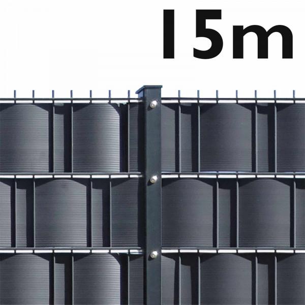 Gittermatte Set leichte Ausführung - 15 m (6 Matten / 7 Pfosten)