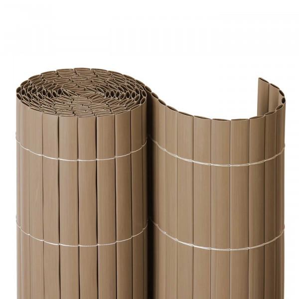 Balkonsichtschutzmatte Kunststoff Farbe Sand auf Rolle