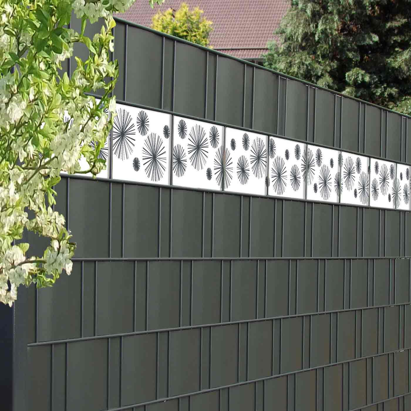 Design Sichtschutzstreifen Fur Gitterzaun Motiv Line Star Gunstig