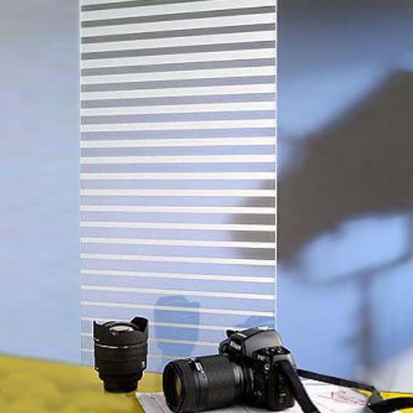 weiße Streifen Plissee - Glasfolie