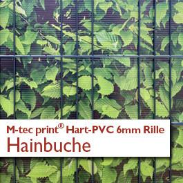 Hart PVC mit Rillenstruktur | Motiv Hainbuche