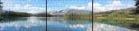 XXL Panorama Zaunposter Sichtschutz Motiv Bergsee